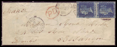 England to France Mourning Cover